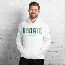 "Load image into Gallery viewer, Men's ""Donate"" Hoodie"