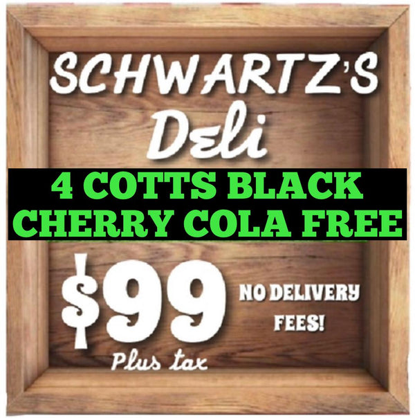 Schwartz's Awesome Lunch Box - BONUS! 4 COTTS BLACK CHERRY COLA FREE!