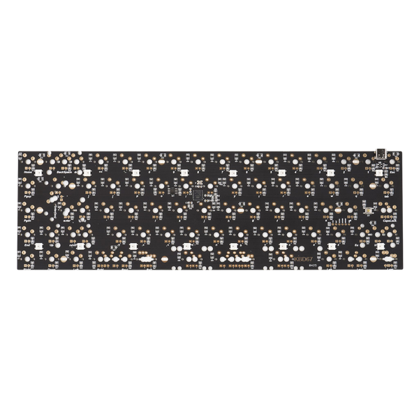 65% KBD67 rev2 Custom Mechanical Keyboard PCB