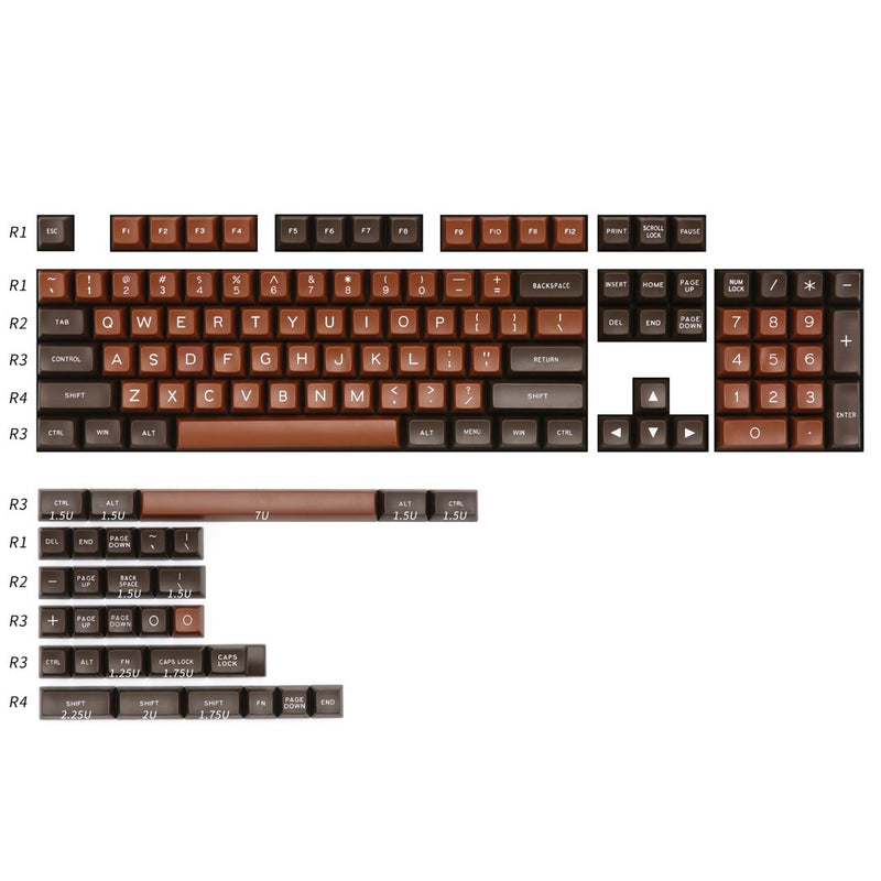Maxkey Chocolate SA keycaps set