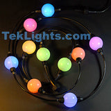 Triklits, RGB ball lights, 25 lights, 12inch spacing