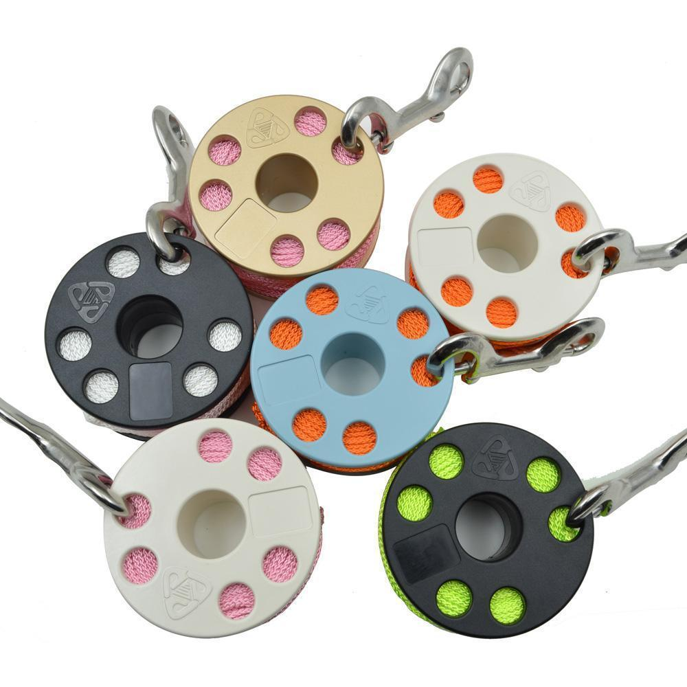 Scuba Diving Finger Spool, Diving Reel, with Double Ended Snap 8 Colors Optional