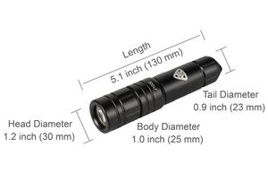 AKUANA Diving Flashlight 1000 Lumens 2 Levels, Maximum Burn Time 7.5 Hours Waterproof 500ft/150m