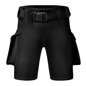 AKUANA 3mm Premium Neoprene Tech Diving Pocket Shorts Scuba Diving Wetsuit Pants