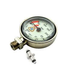 "Load image into Gallery viewer, Scuba Diving SPG,Tech Diving Pressure Gauge,2"" (5.1 cm) Brass ,Made In Italy"