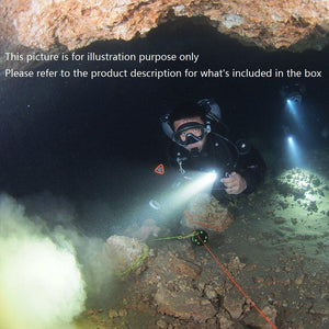 AKUANA LED Diving Flashlight Attach on Mask 600 Lumens CREE LED, Diving Torch Waterproof 500ft/150m