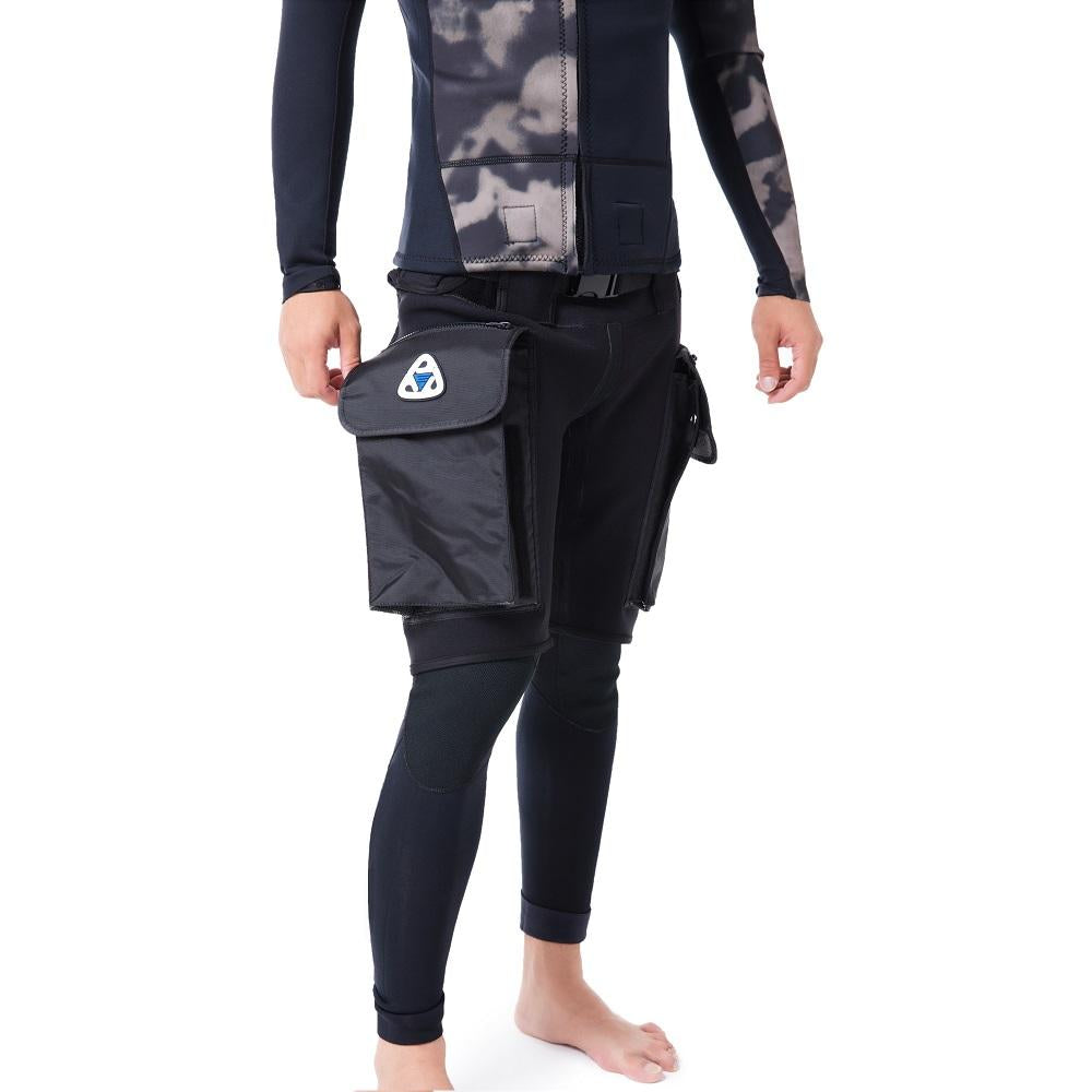 EZ 3mm Premium Neoprene Tech Diving Pocket Shorts Scuba Diving Wetsuit Pants