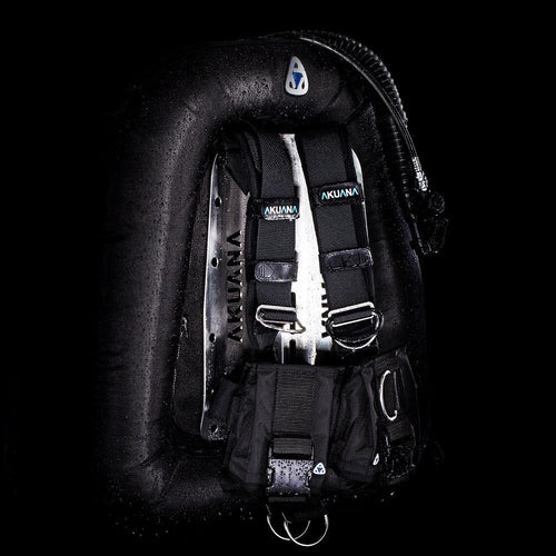 Tech Diving Twin Tank BCD, 50Lb Lift Double Bladder With S/S Backplate