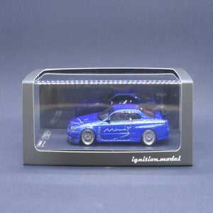 Ignition Model 1:43 Nissan Skyline GT-R Mine's (R34) Bayside Blue