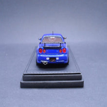 Load image into Gallery viewer, Ignition Model 1:43 Nissan Skyline GT-R Mine's (R34) Bayside Blue