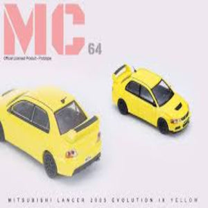 MC64 1:64 Mitsubishi Lancer Evolution IX (Yellow)