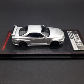 Ignition Model 1:64 Nismo Miniature Car R34 GT-R Z-tune Silver