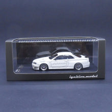 Load image into Gallery viewer, Ignition Model 1:43 1811 Skylline GT-R Mine's (R34) White