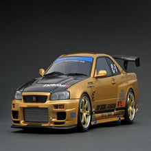 Load image into Gallery viewer, Ignition Model 1:18 TOP SECRET GT-R (BNR34) Gold