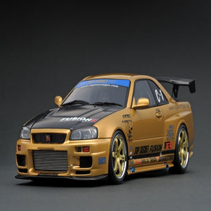 Ignition Model 1:18 TOP SECRET GT-R (BNR34) Gold