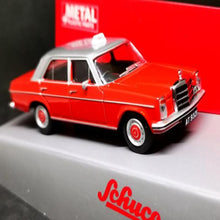 Load image into Gallery viewer, Schuco 1:64 Mercedes-Benz 200D Hong Kong Taxi (Red)