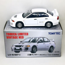 Load image into Gallery viewer, Tomytec 1:64 TLVN LV-N187c Mitsubishi Lancer Evolution V
