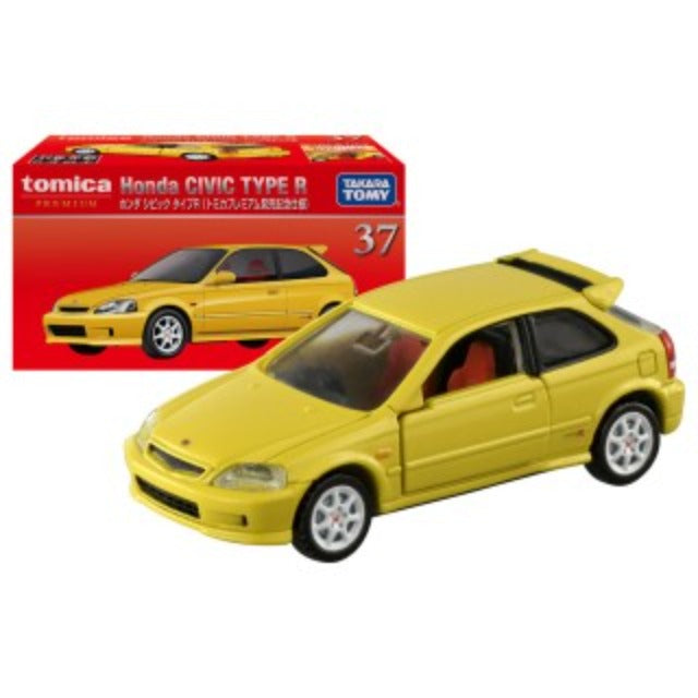 Tomica Premium 1:64 Honda Civic Type R Yellow #37