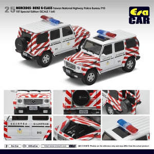 Era Car 1:64 Mercedes-Benz G Class Taiwan National Highway Police Bureau 910 1st Special edition #25