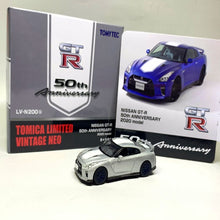 Load image into Gallery viewer, Tomytec 1:64 TLVN LV-N200b Nissan GT-R 50th Anniversary Grey