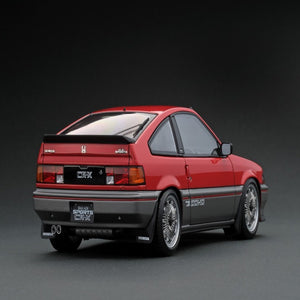 Ignition Model 1:18 Honda BALLADE SPORTS CR-X Si (E-AS) Red/Silver