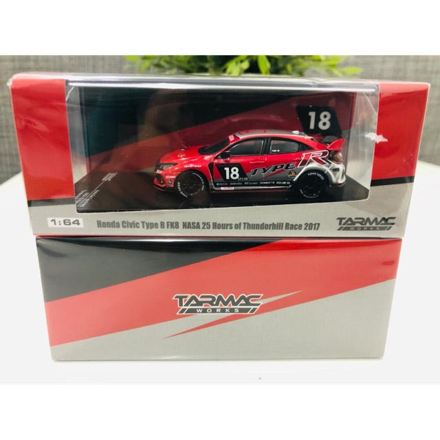 Tarmac Works 1:64 Honda Civic Type R FK8 NASA 25 Hours of Thunderhill Race 2017 #18