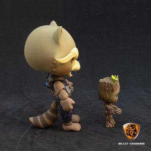 Beast Kingdom EAA-049 Guardians of Galaxy 2 | Rocket Racoon with Baby Groot