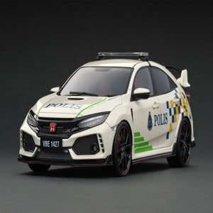 Ignition Model 1:18 Honda CIVIC (FK8) TYPE R Malaysia Police Test Car