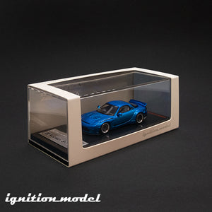 Ignition Model 1:64 Rocket Bunny RX-7 Blue Metallic (FD3S)