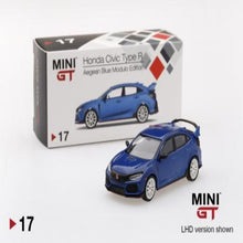 Load image into Gallery viewer, Mini GT 1:64 Honda Civic Type R Aegean Blue Modulo Edition #17