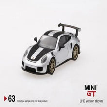 Load image into Gallery viewer, Mini GT 1:64 Porsche 911 GT2 RS GT Silver Metallic #63