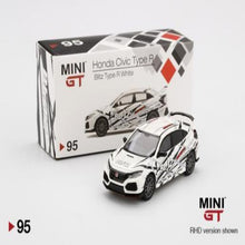 Load image into Gallery viewer, Mini GT 1:64 Honda Civic Type-R Blitz Type-R White #95
