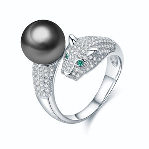 Panther Pearl Ring