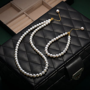 Edison Pearl Necklace & Bracelet Set