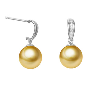 G18k Diamonds Latch Pearl Earrings