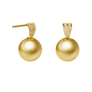 G18k Diamonds Timeless Classic Edison Pearl Studs Earrings