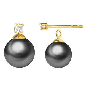 G18k Diamonds 2-in-1 Edison Pearl Studs Earrings