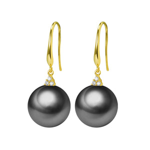 G18k Trinity Diamonds Pearl Earrings