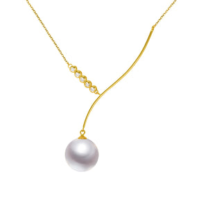 G18k Diamonds Match Made in Heaven Edison Pearl Necklace