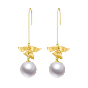 G18k Floral Design Edison Pearl Earrings