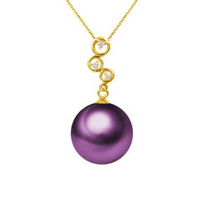 G18k Diamonds Playful Pearl Pendant