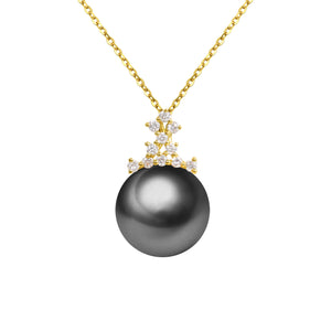 G18K Diamonds Regal Pearl Pendant