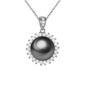 G18k Sunshine and Diamonds Pearl Pendant (Medium Size)