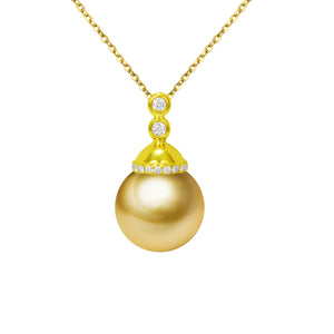 G18k Diamonds Infinity Love Pearl Pendant