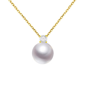 G18k Oversized Pearl and Diamonds Pendant