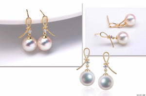 G18K Golden Knot Pearl Earrings - Timeless Pearl