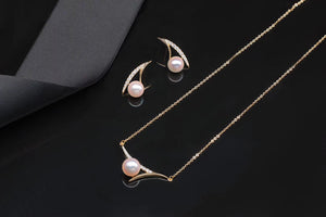 G14K Contemporary Pearl Necklace - Timeless Pearl