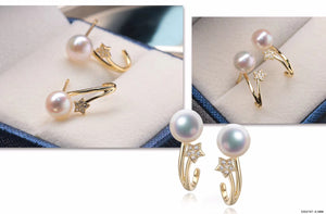 G14K Meteor Shower Pearl Earrings - Timeless Pearl