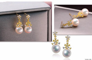 G14K Frozen Edison Pearl Earrings - Timeless Pearl