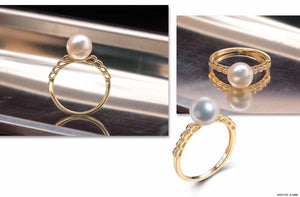 G14K Waves Edison Pearl Ring - Timeless Pearl